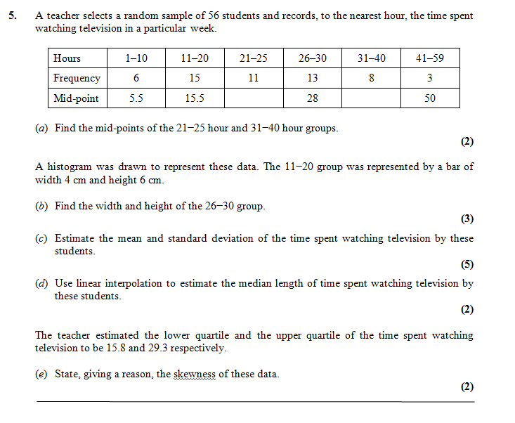 how to find s1 and s2 in statistics