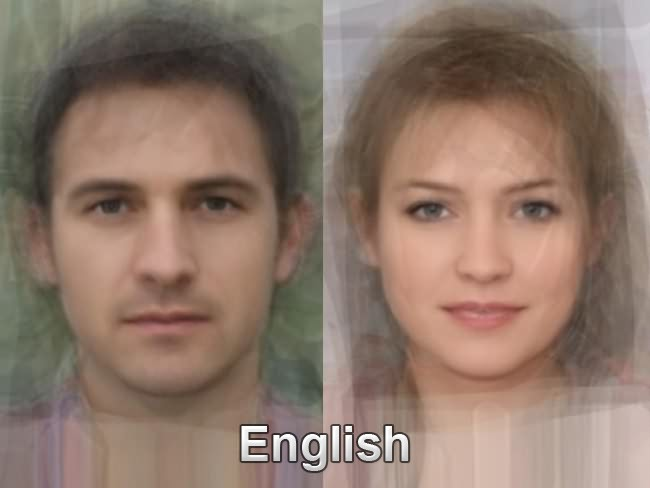 does a (stereo)typical English/Welsh/Scottish/Irish person look like ...