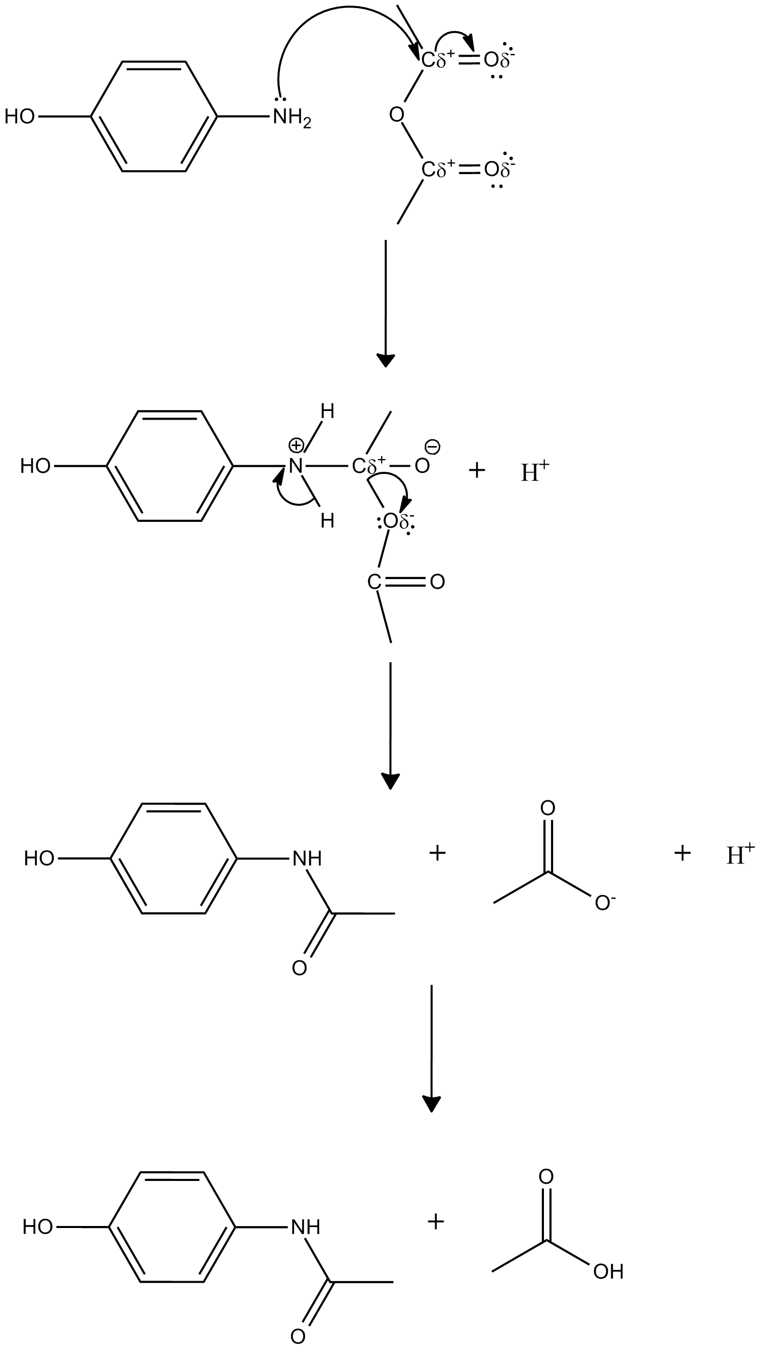 synthesis of acetaminophen Acetaminophen (tylenol synthesis: if, and only if, the p-aminophenol has air oxidized and is discolored to the extent that it is any darker grey.