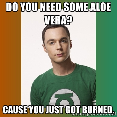 Name:  Do you need some aloe vera Cause you just got burned ~ Sheldon Cooper.jpg Views: 18 Size:  84.1 KB
