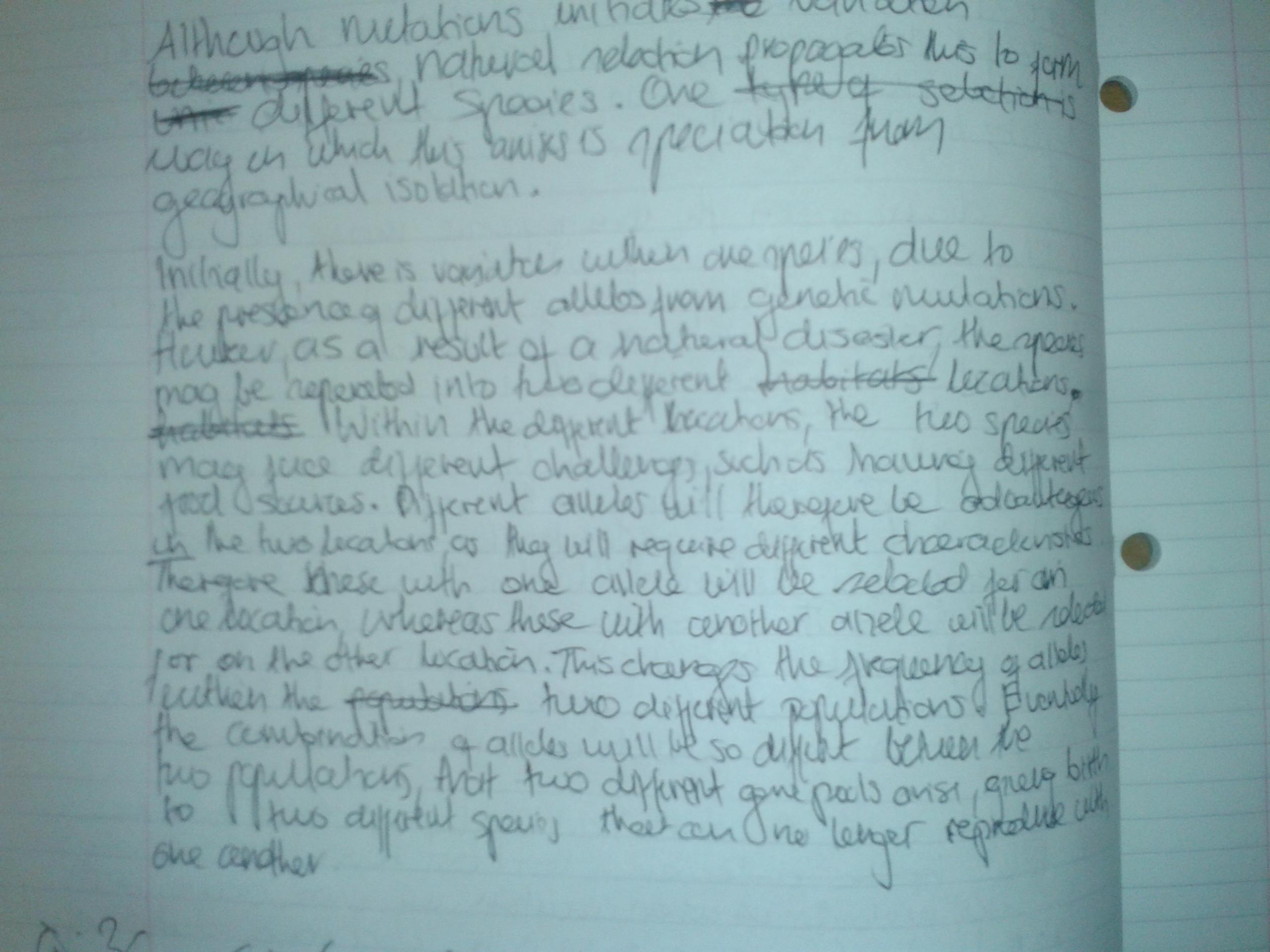 A biology essay questtion?