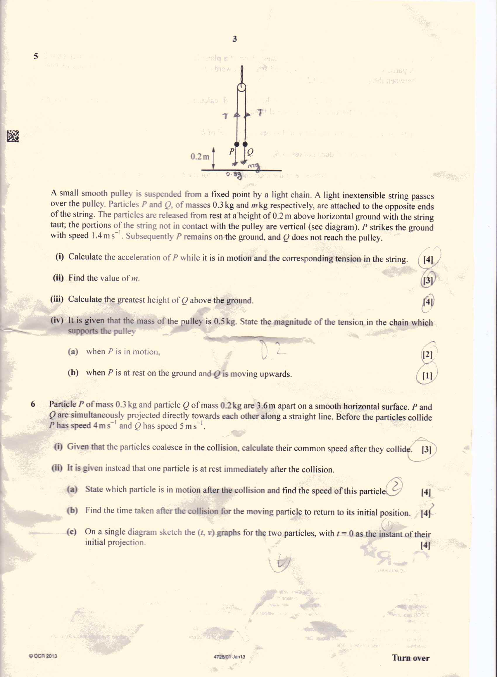 ocr maths mechanics m1  6th june 2013