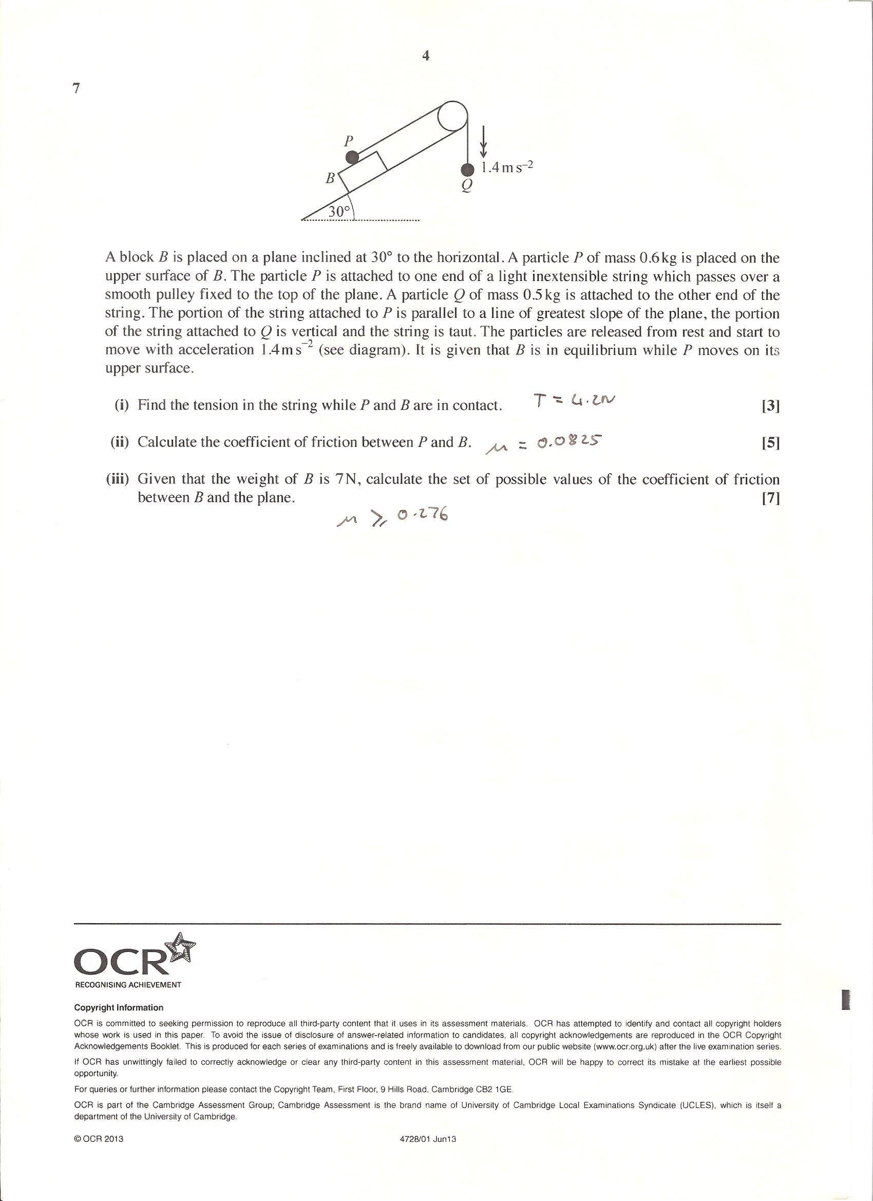 Ocr terminal paper grade boundaries