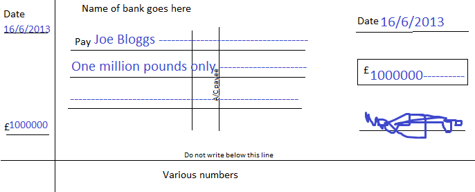 How to write a cheque (or check)