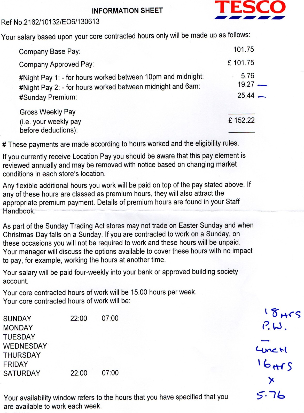 Tesco Customer Assistant Nights Pay Picture Included