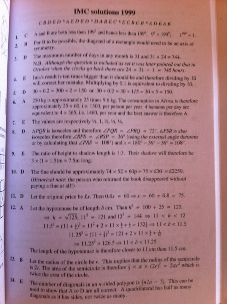 uk intermediate maths challenge past papers Uk senior mathematical challenge november 8th 2011  enquiry@ukmtcouk or by post to: smc solutions, ukmt maths challenges  senior mathematics challenge 2011 .