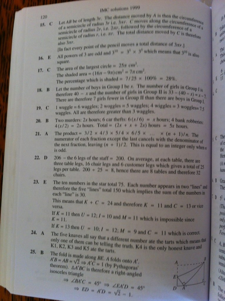 ukmt intermediate maths challenge papers These are the solutions (with explanations) to the intermediate maths challenge for 2012 often referred to as ukmt intermediate maths challenge, this is a 60 minute paper sat in hundreds of schools around the uk, where students attempt to answer up to 25 questions.