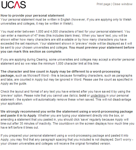 Ucas Personal Statement Builder