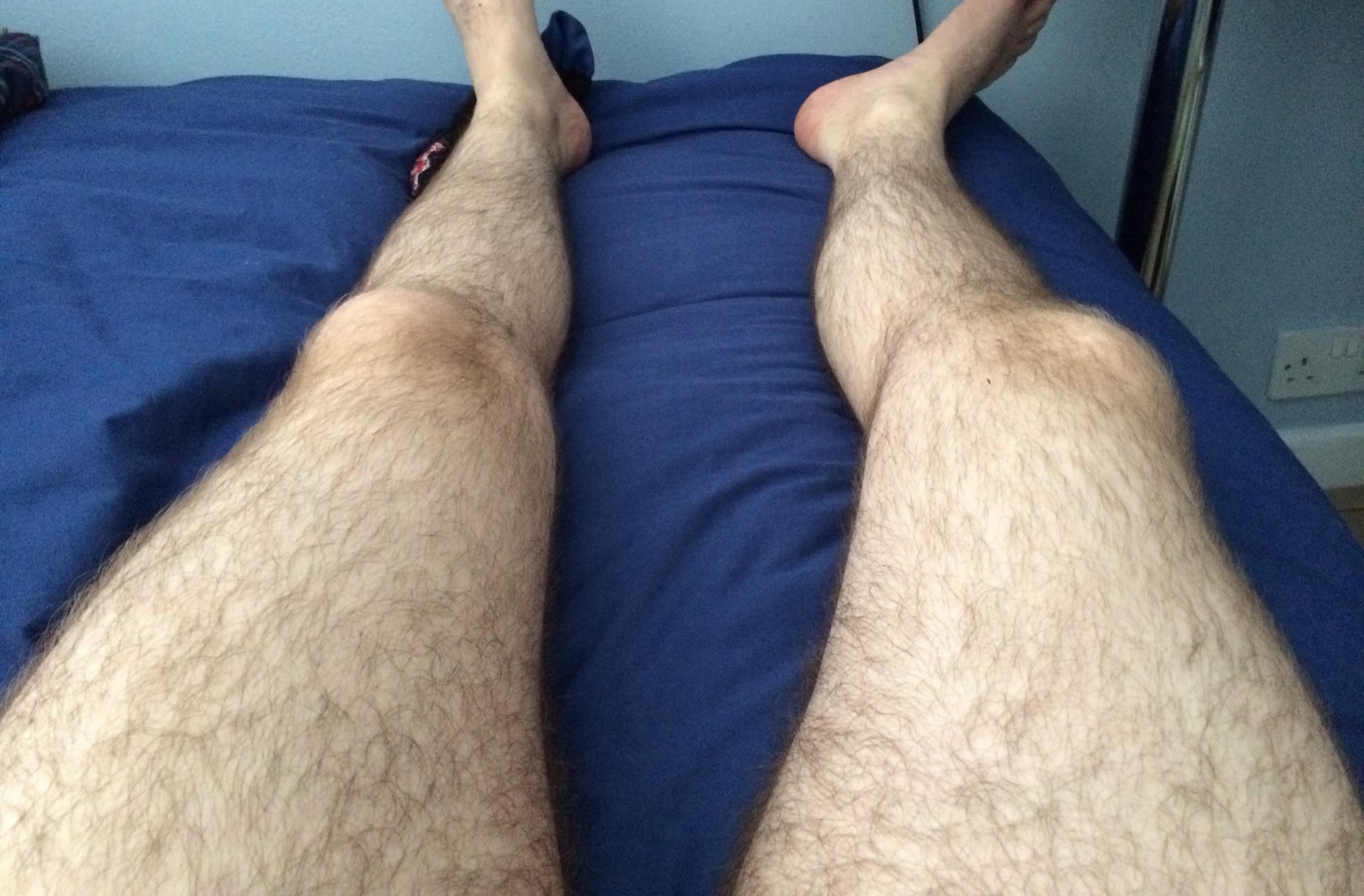 blonde male hairy legs