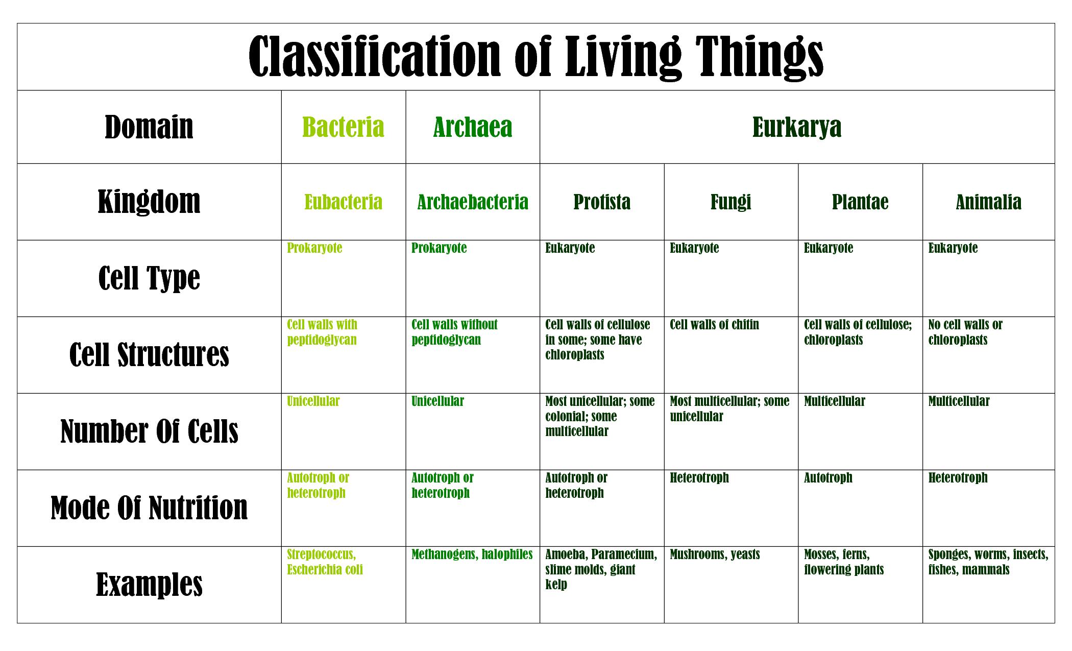 six kingdom classification system - HD2100×1275