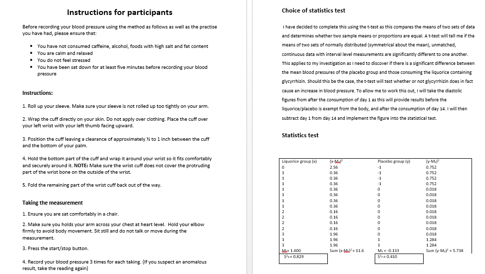 Help with biology coursework