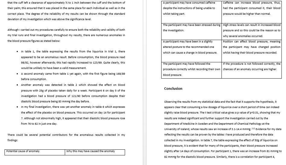 Biology coursework criteria