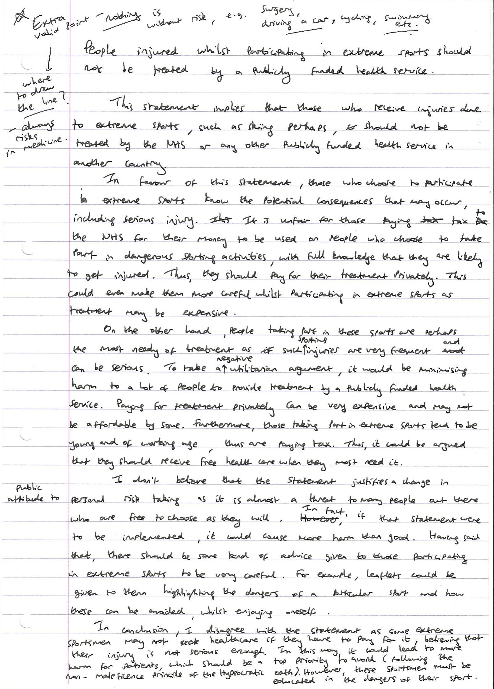Bmat 5a essay