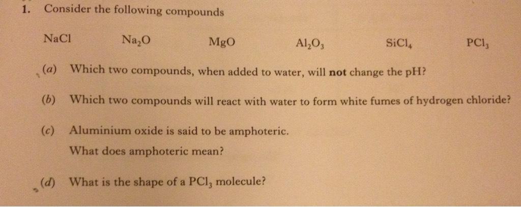 Cambridge chemistry data booklet.