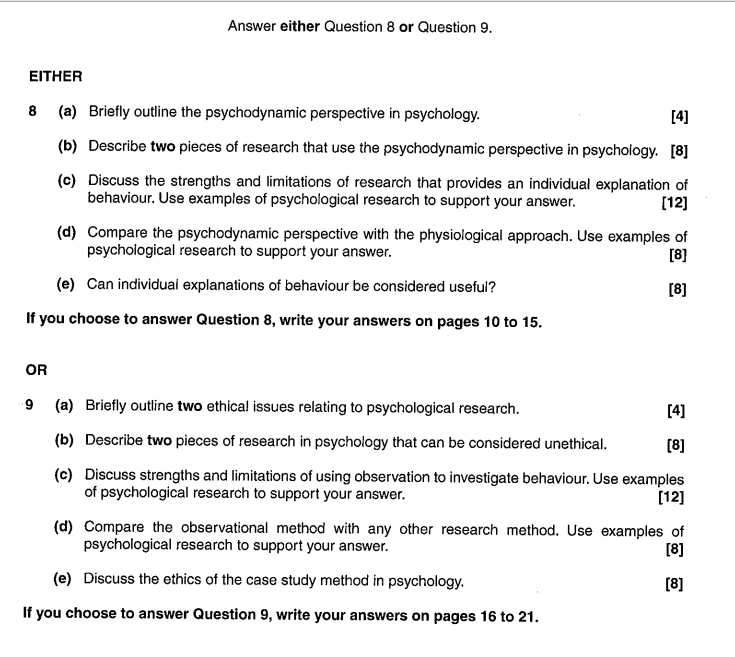psychology research methods essay questions Free psychology papers, essays, and research there are several research methods in psychology three main approaches in counseling psychology - this essay.