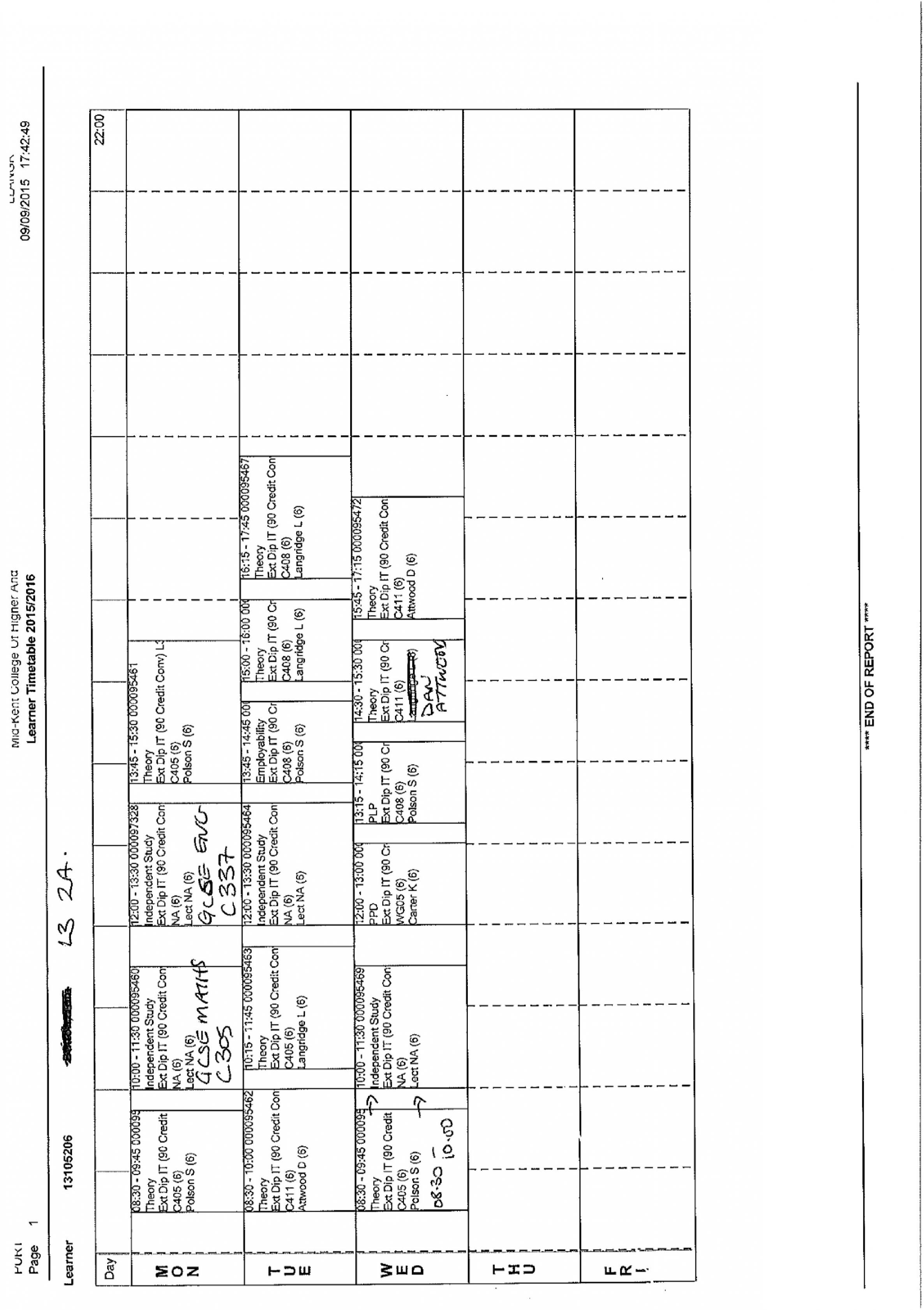can my college set this timetable the student room attached images