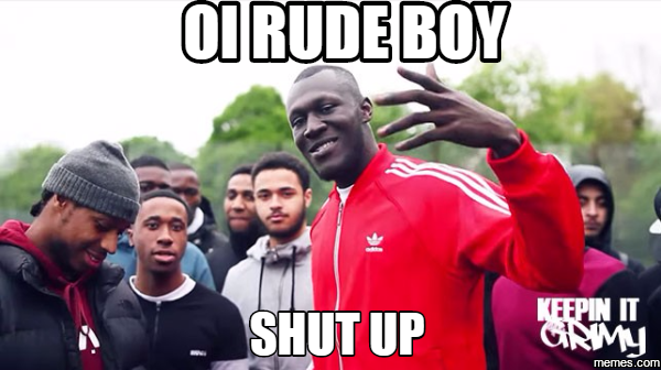 Image result for stormzy shut up gif