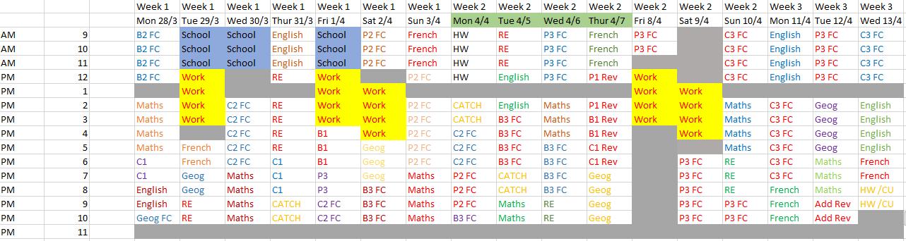 gcse coursework timetable Provisional gcse summer timetable 2018 1 14/05/2018 eduqas religious studies c120u10-1 religious studies full course pm 2h 00m.