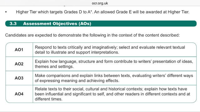 Aqa Gcse English Literature  Student Room
