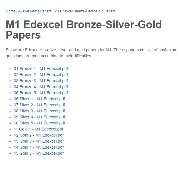 Name:  M1 Edexcel Bronze-Silver-Gold Papers - Physics & Maths Tutor - Google Chrome 2016-06-06 22.36.13.png