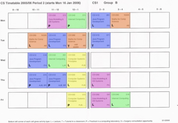 Example Of A First Year Timetable The Student Room
