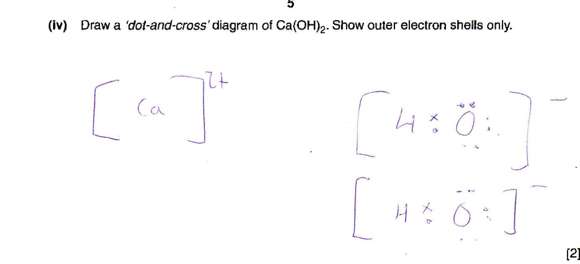 U0026 39 Dot And Cross U0026 39  Diagram Of Ca Oh 2