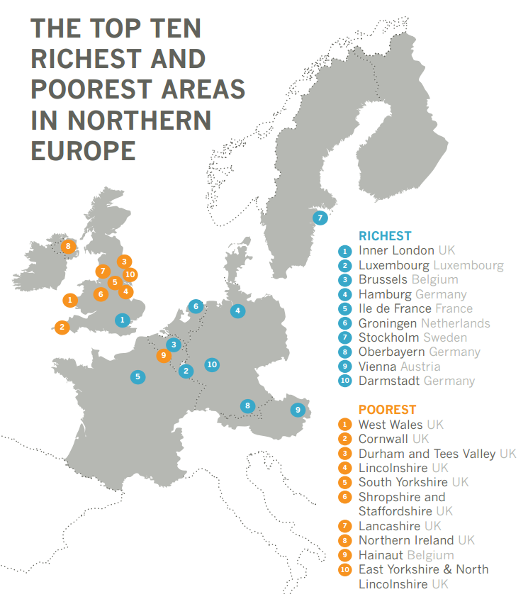 Of Poorest Areas In Northern Europe Are In The UK The - List of countries from richest to poorest