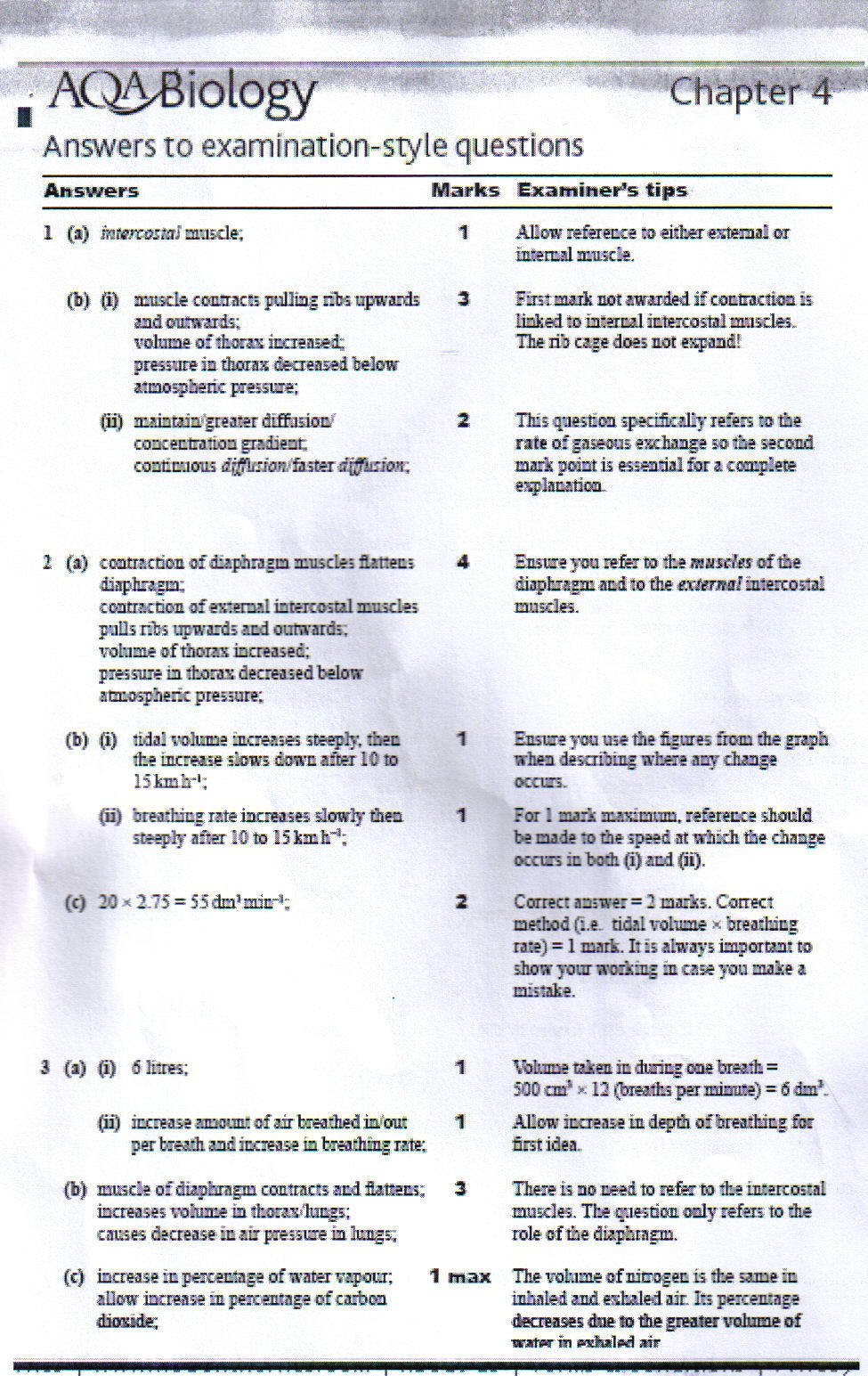 Nelson Thornes AQA Book Answers - BIOLOGY Unit 1 - The Student Room