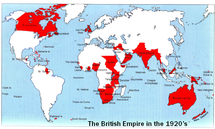 Timelines for the British Empire