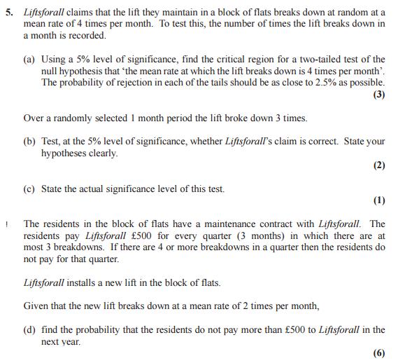 S2 Maths - Edexcel June 2015 past paper Question 5   HELP? - The