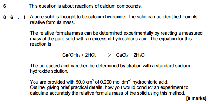 how to do back titration