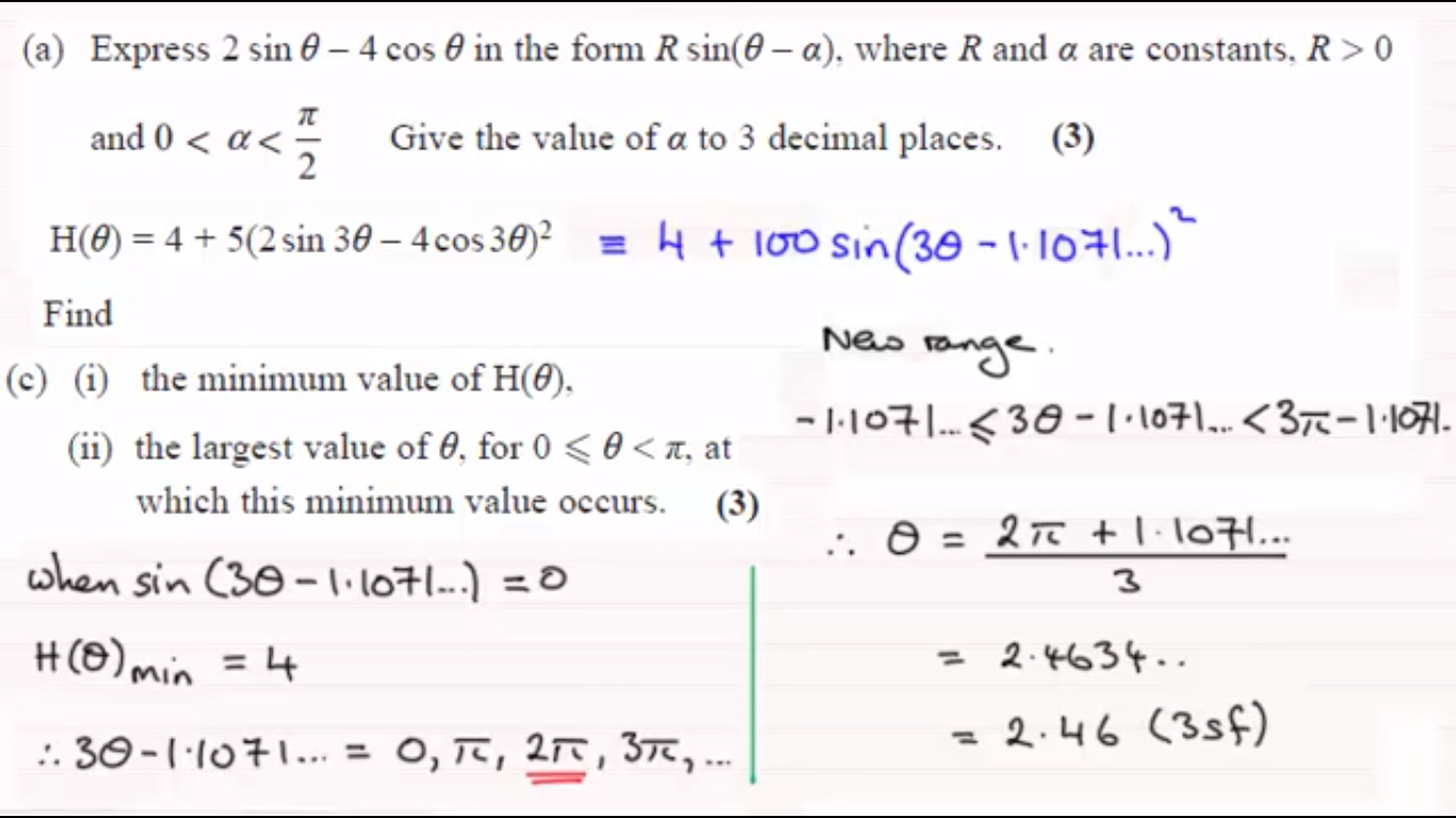 Name:  C3 June 2014 Q9 - Harmonic Identities Min or Max values.png