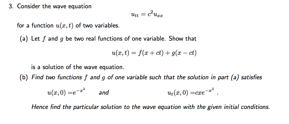 PDE wave equation example - The Student Room