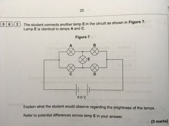 AQA AS Physics Circuit Question - The Student Room