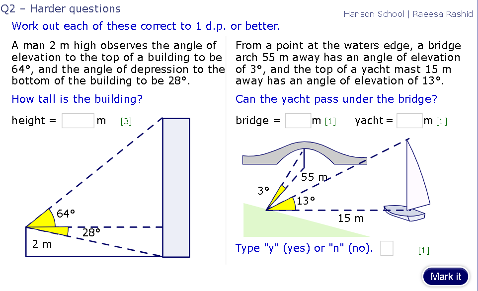 GCSE Maths Trigonometry help - The Student Room