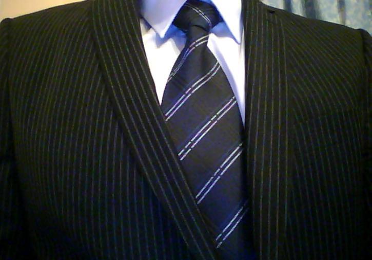 black suit light blue tie - photo #22