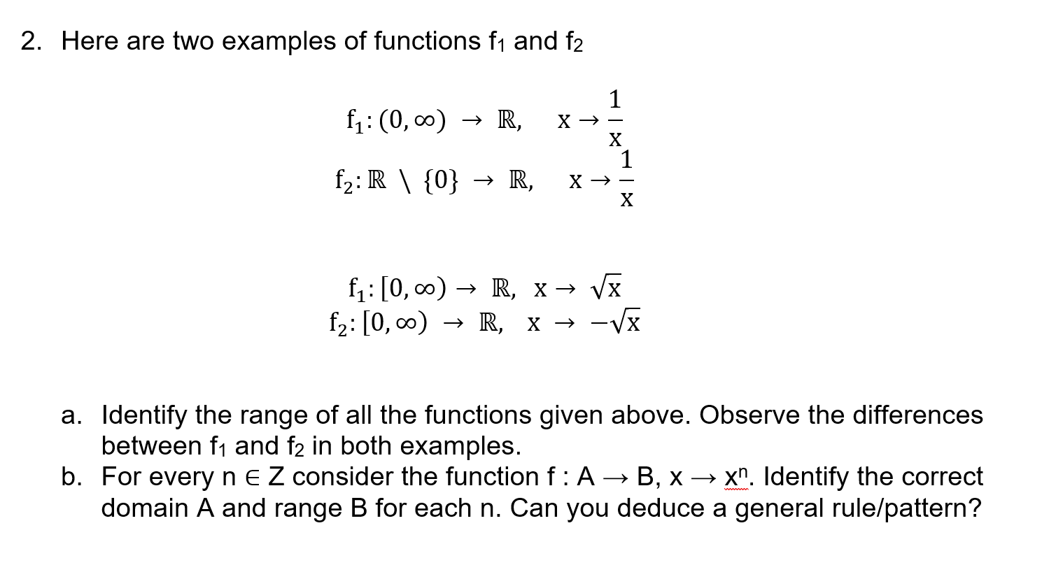 Function Notation - The Student Room