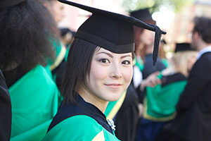 Student graduating from Nottingham Trent University
