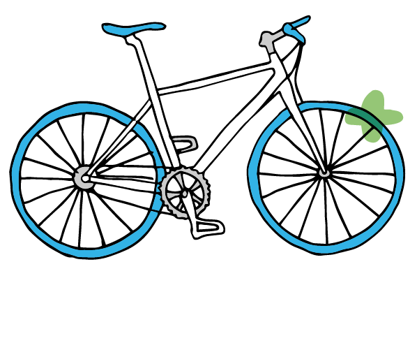 get outside on your blue bike