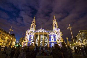 The Light Night in Leeds is a spectacle that occurs every October