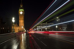 The fast paced nature in the day in London transfers into the night