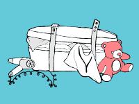 A stuffed suitcase