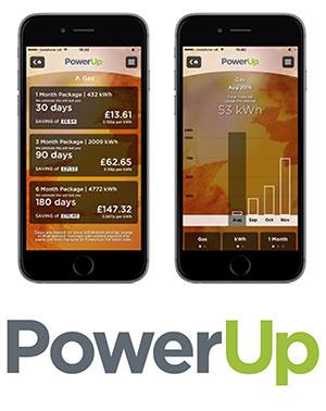 Power Up app screenshots