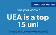 Did you know UEA is a top 15 uni