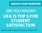 UEA is top five for student satisfaction