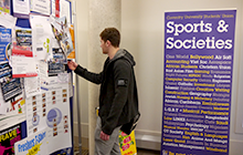 Students checking out societies