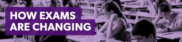How exams are changing header graphic