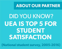 Did you know UEA is top 5 for student satisfaction