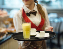 Waitress in a cafe
