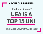 Did you know UEA is a top 15 university